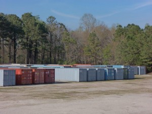 Containers on our yard.