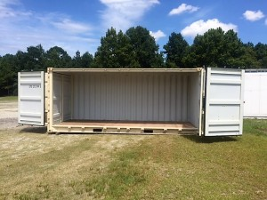 20' One Trip Open Side Container - Side doors open